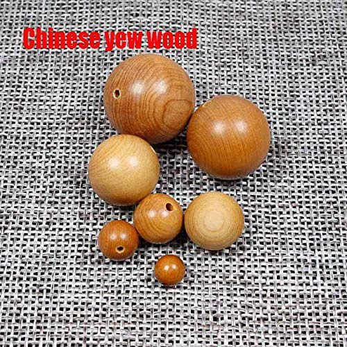 Best Quality - Beads - 20Pcs/Lot Round Natural Wood Beads 6-20Mm Sandalwood/Rosewood/Padauk Wooden Spacer Beads DIY Jewelry Making Finding - 1 Pcs