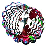 wind spinners outdoor - Shipityourway 3D Wind Spinner Hummingbird Whirligig Twister with Swivel (12