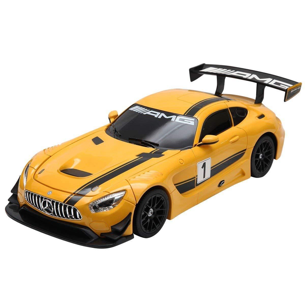 PowerTRC 1:14 Mercedes-Benz GT3 2.4ghz RC Transformer Dancing Robot Car Yellow by PowerTRC (Image #3)