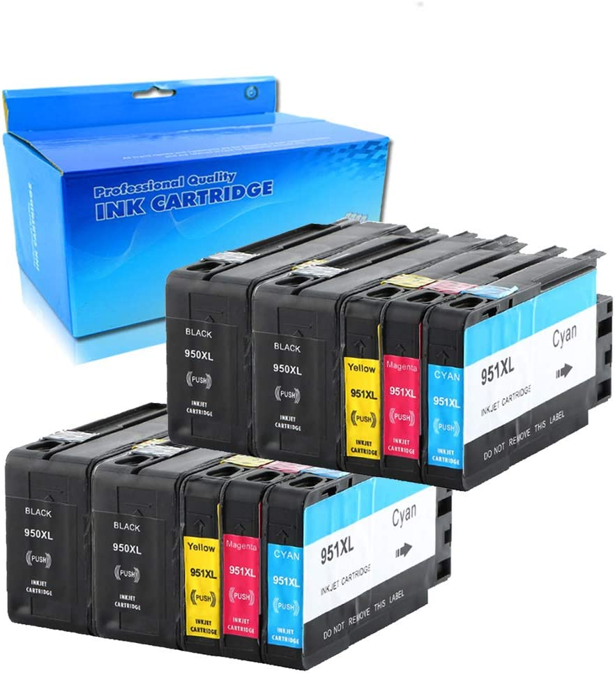TengSheng Remanufactured Ink Cartridge Replacement for HP 950XL 951XL 950 XL 951 XL for Officejet Pro 8100 8600 8610 8615 8620 8625 8630 8640 251dw Printer (4 Black, 2 Cyan,2Magenta,2Yellow,10 Pack)