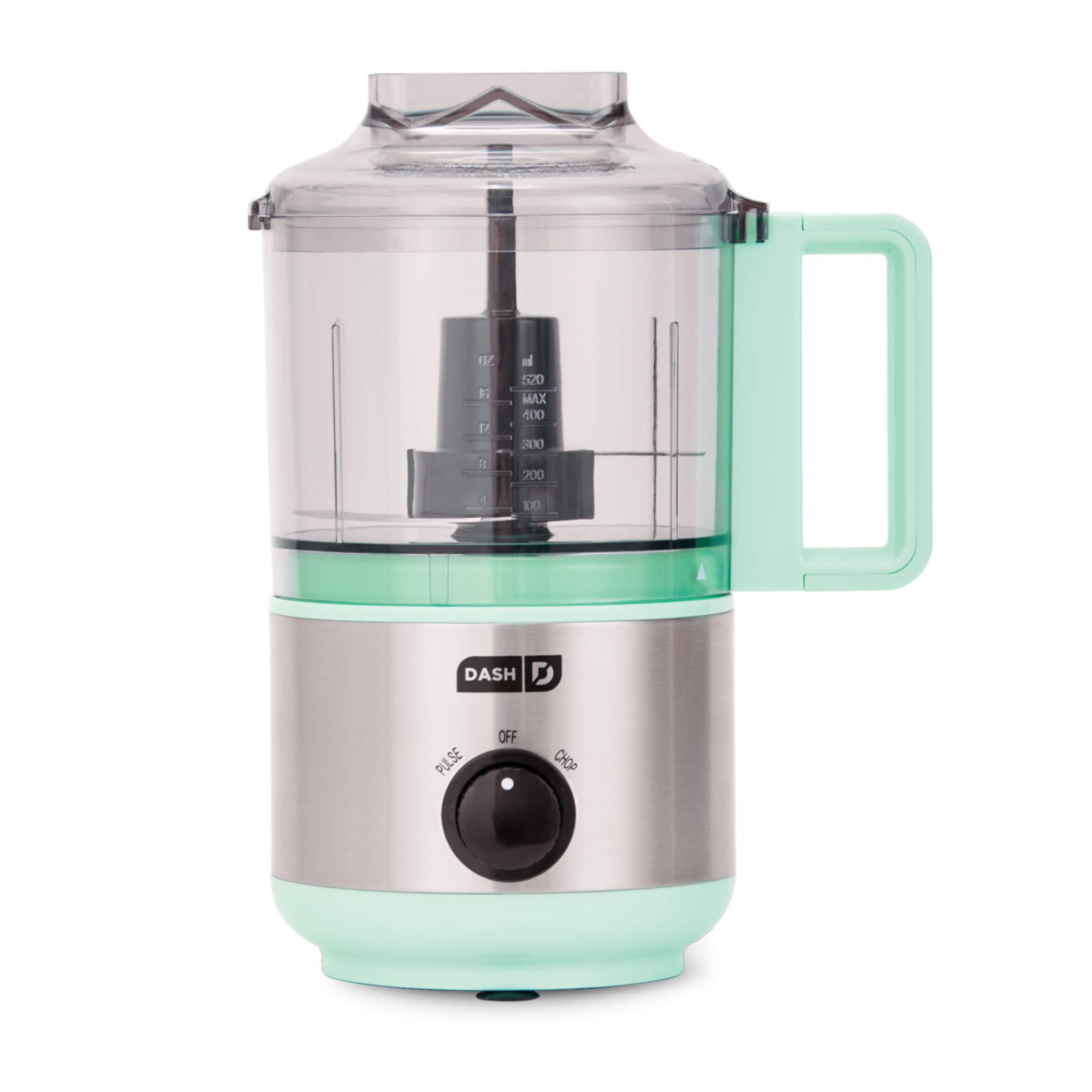 Dash DMFP100AQ Express Mini Food Chopper, 2 Cup, Aqua by Dash (Image #1)