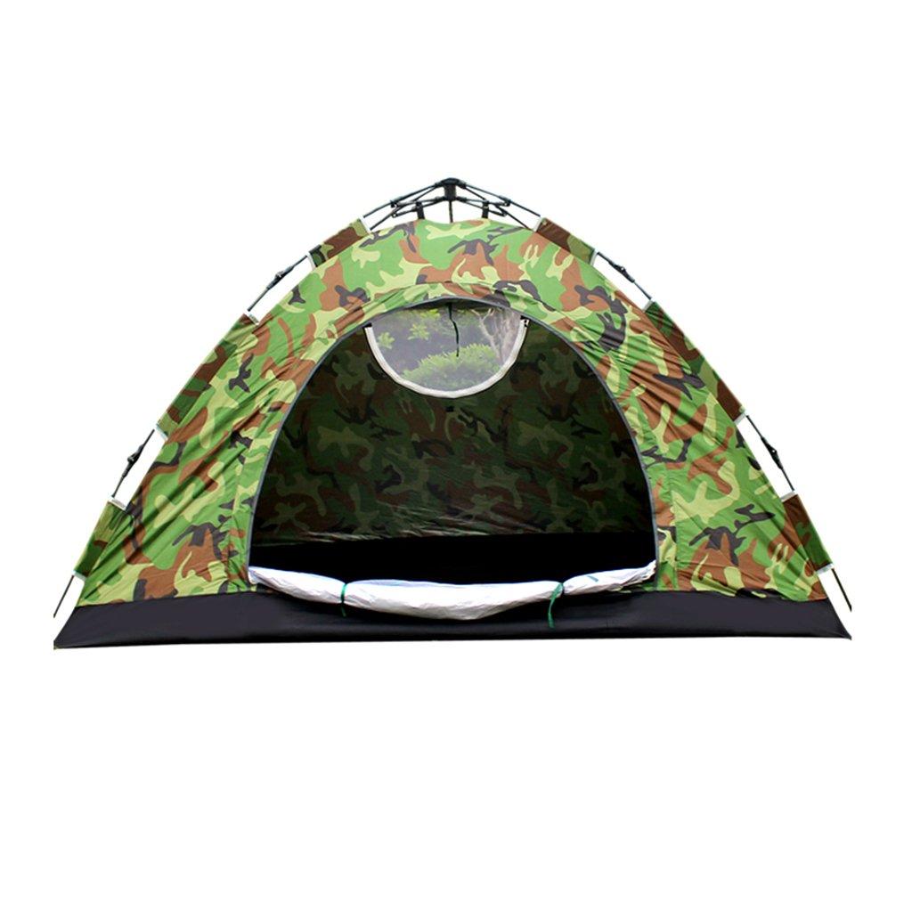 ZP テント、ダブルカモ自動超軽量屋外キャンプフィールドテント huwaizhangpeng  緑 B07CSPMYWP