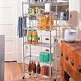 6 shelf pantry rack - 6-Shelf Pantry Rack (Chrome)