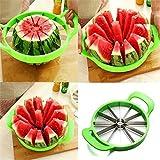 Stainless Steel Watermelon Cutter Apple Melon Slicer Kitchen Fruit Divider