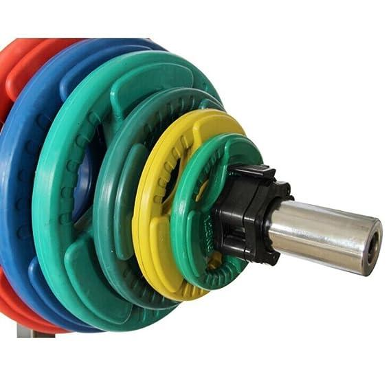 Lalawow Collares barra de pesas 1 par para el entrenamiento de pesas con mancuernas (Negro, 50mm): Amazon.es: Deportes y aire libre