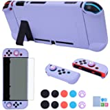 Dockable Case for Nintendo Switch - COMCOOL 3 in 1 Protective Cover Case for Nintendo Switch and Joy-Con Controller with Scre