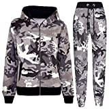 A2Z 4 Kids Kids Tracksuit Boys Girls Designer's Camouflage Print - T.S A2Z Camo Charcoal 9-10