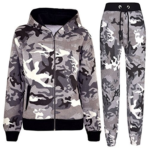 A2Z® Kids Tracksuit Boys Girls Designer's Camouflage Jogging Suit Top Bottom 5-13 ()