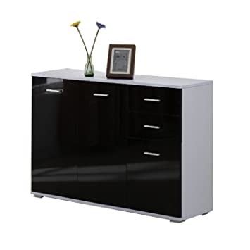 Homcom Modern High Gloss Side Cabinet Table Sideboard Chest of