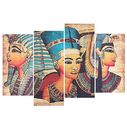 D Egyptian Wall Canvas Painting Wall Art Modular Decor