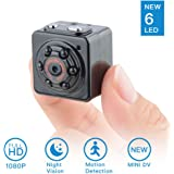 SOOSPY Mini Camera-1080P Indoor Outdoor Pocket Security Camera Nanny Cam with Night Vision,Motion Detection,Micro SD Card Slot