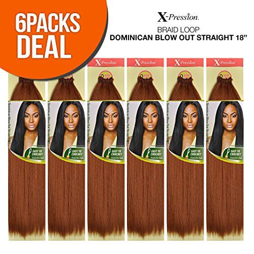 Outre Synthetic Hair Crochet Braids X-Pression Braid Loop Dominican Blow Out Straight [18