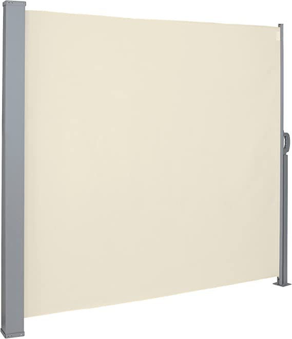 Protezione da Sole da Giardino Tendalino per Patio Terrazzo Dimensione:180x300cm Colore:Azzurro CCLIFE Tenda da Sole Laterale Alluminio Tenda Paravento per Esterno