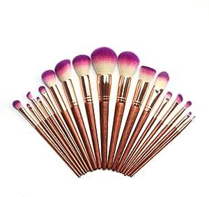 17pcs Makeup Brush Set Wooden Handle Cosmetic Brushes Professional Makeup Tools