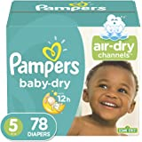 Diapers Size 5 - Pampers Baby Dry Disposable Baby Diapers, 78 Count, Super Pack, (Packaging May Vary)