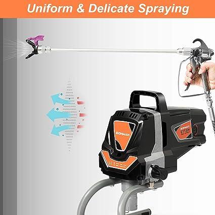 Pistola rociadora eléctrica Goplus, máquina pulverizadora de alta presión, pistola de pintura de 3000 PSI: Amazon.es: Bricolaje y herramientas