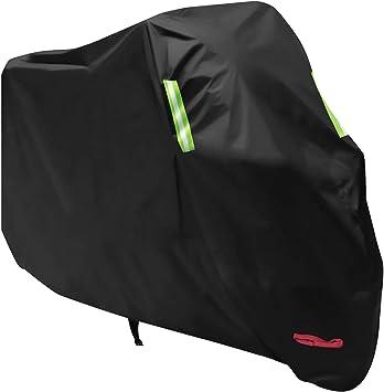 Large Motorcycle Motorbike Cover with Storage Bag UV Protective Waterproof Blue Black