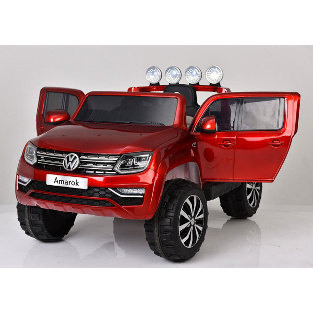 giordano shop Coche máquina eléctrica Volkswagen PK Amarok 4 x 4 Roja 12 V 2 Plazas Para Niños: Amazon.es: Juguetes y juegos