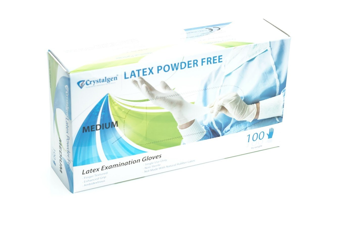 Crystalgen - Powder Free Latex Gloves