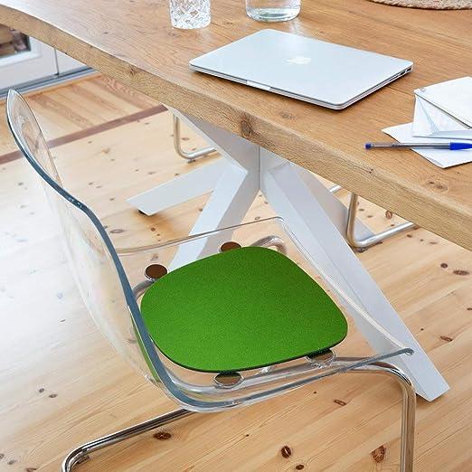para sillas luxdag Coj/ín de asiento acolchado bicolor taburetes forma y color a elegir cojines de fieltro juego de 2 unidades bancos