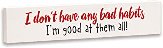 product image for Imagine Design Relatively Funny Country Living I Don't Have Any Bad Habits, Stick Plaque, Red/Black/White