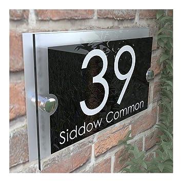 Placa personalizada casa direcci/ón casa puerta N/úmero calle nombre personalizado hecho