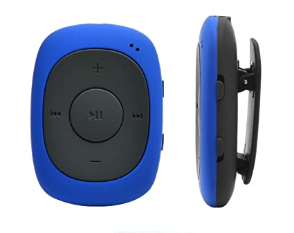 AGPtEK G02 MP3 Player 8GB Portable Clip Player Music with FM Radio  Supporting MP3, WMA WAV, Blue