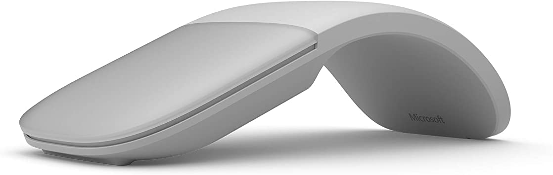 Microsoft Surface Arc Mouse - Ratón (Ambidextro, Bluetooth, Gris)