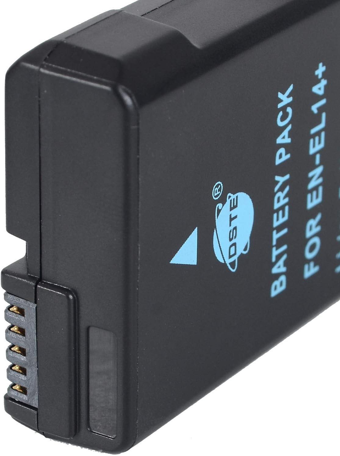 DSTE Rechargeable Batterie et DC111E Voyage Chargeur pour Nikon EN-EL14 EN-EL14A DF D3100 D3200 D3300 D3400 D3500 D5100 D5200 D5300 D5500 P7000 P7100 P7200 P7700 P7800