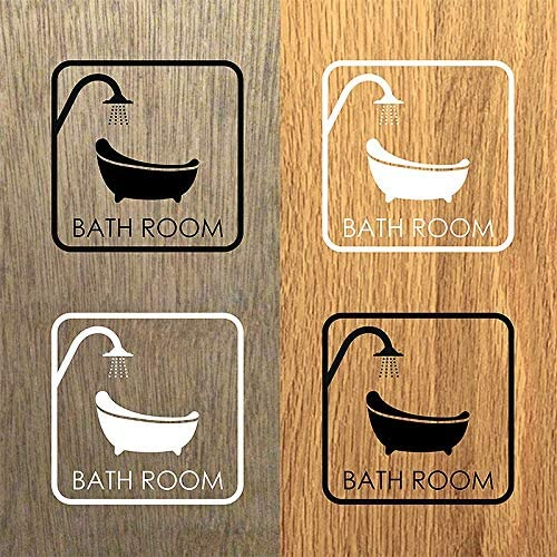 [スポンサー プロダクト]バスルームウォールステッカー バスルーム 海外バスタブ お風呂 モチーフ (黒)