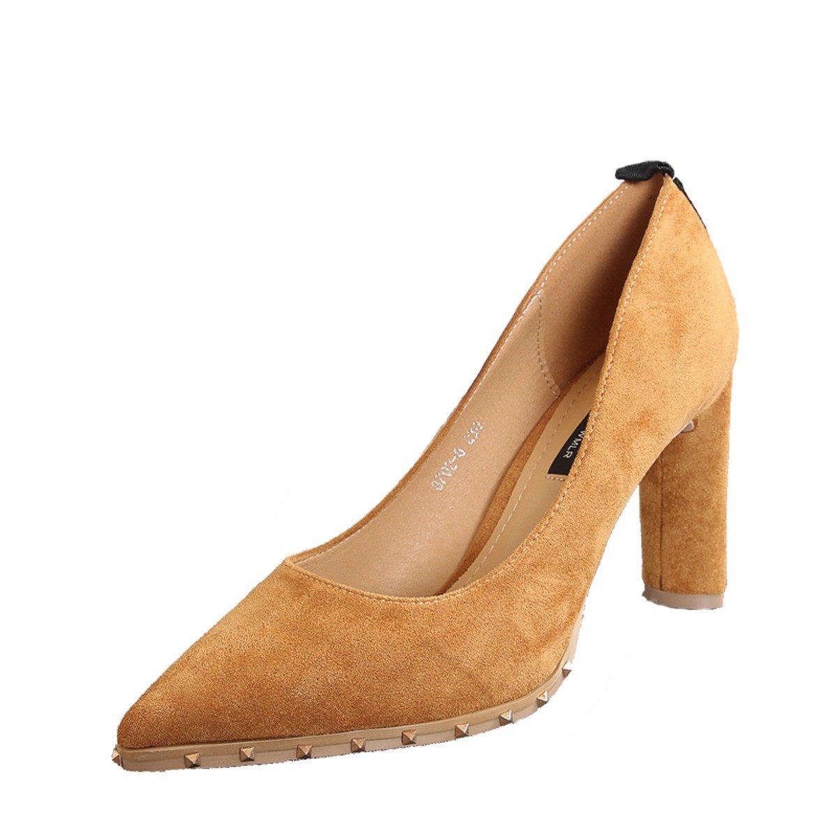 GTVERNH Damenschuhe Mode Bereits Bei Damenschuhen Damenschuhen Bei Frühling Wild 9Cm Hochhackigen Schuhe Die Nieten. a6b4a0