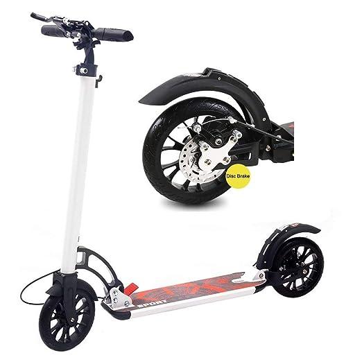 ACZZ Patinete para adultos con ruedas grandes y freno de ...