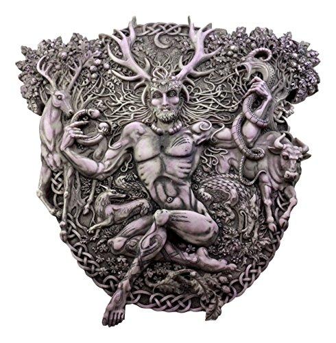 Ebros Gift Wicca Horned God Cernunnos Wall Plaque Masculine Divinity Neopaganism Wall Decor (Cernunnos Plaque)
