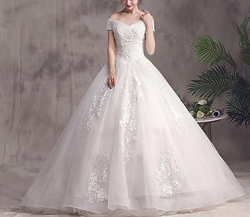 WLG Meili Palabra Hombro Vestido de Novia 2018 Novia Coreana se casó con Mujeres Embarazadas de
