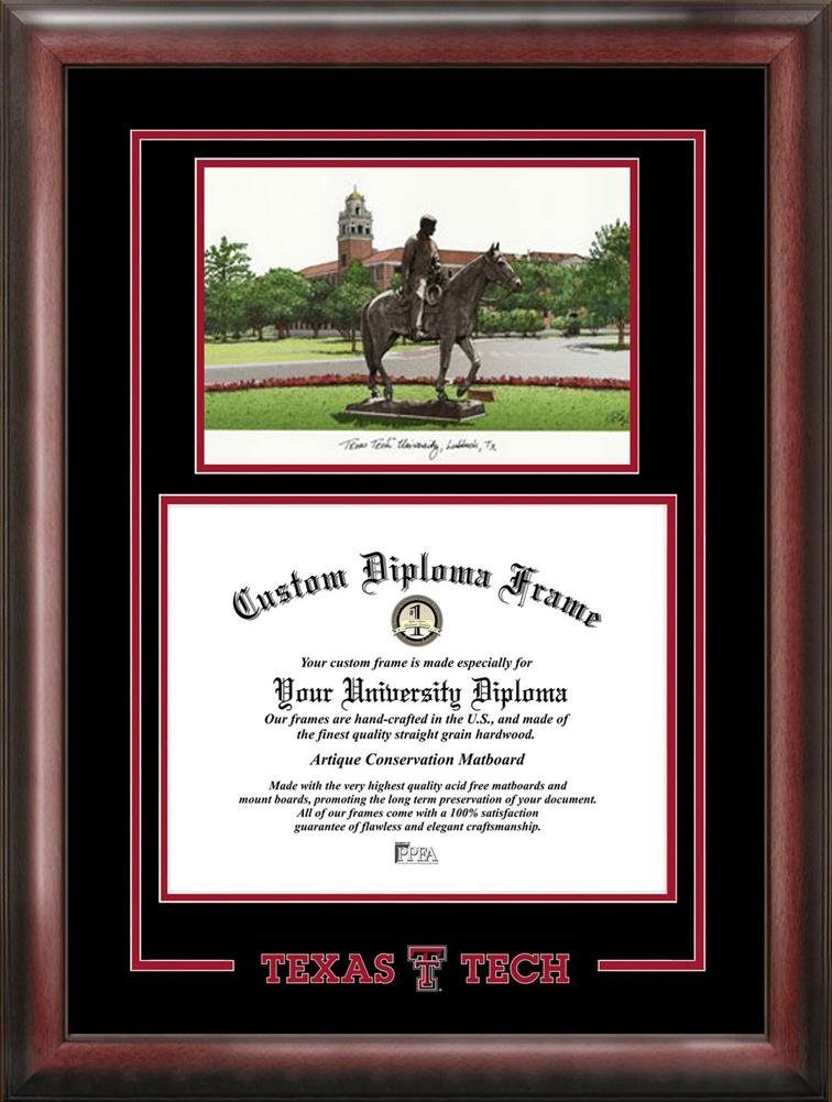 Amazon.com : Texas Tech University Alumni Mahogany Diploma Frame ...