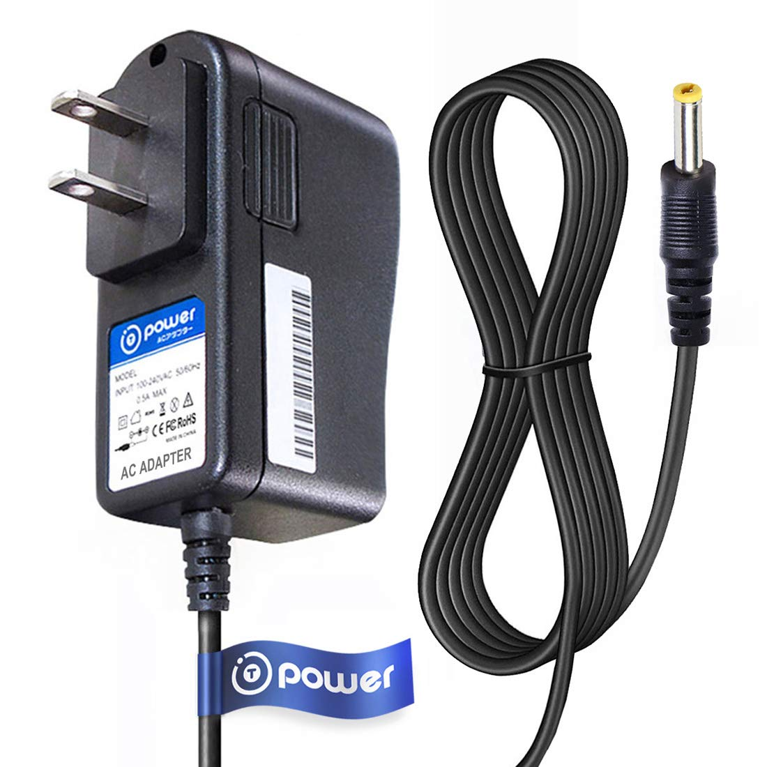 T-Power AC Adapter Charge for Vtech Safe /& Sound Baby Monitor DM221-2 PU 6.6ft Long Cable Parent Unit Replacement switching power supply cord