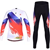 Maxmer Cycling Suit Women Cycling Long Sleeve Jersey Woman Cycling Clothing Sets Padded Trousers Riding Sportswear Breathable Quick Dry Cycling Racing Suits