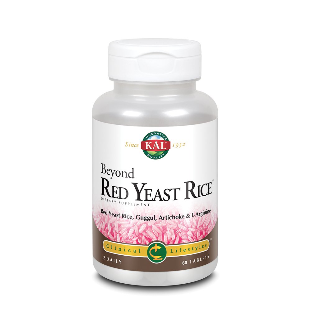 KAL Beyond Red Yeast Rice   Clinical Formula with B Vitamins, Guggul, Artichoke, L-Arginine HCl to Support Cardiovascular Health   60 Tablets