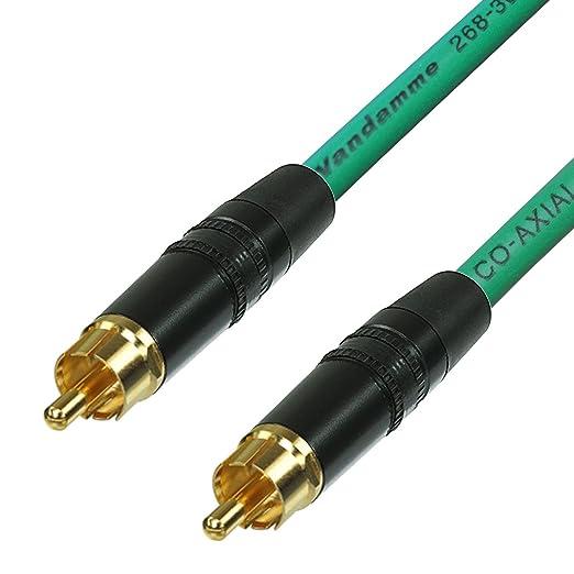 Cable coaxial de vídeo y audio digital SPDIF RCA a RCA. Cable de teléfono coaxial de 75 ohm, de Van Damme. 5 m azul: Amazon.es: Electrónica