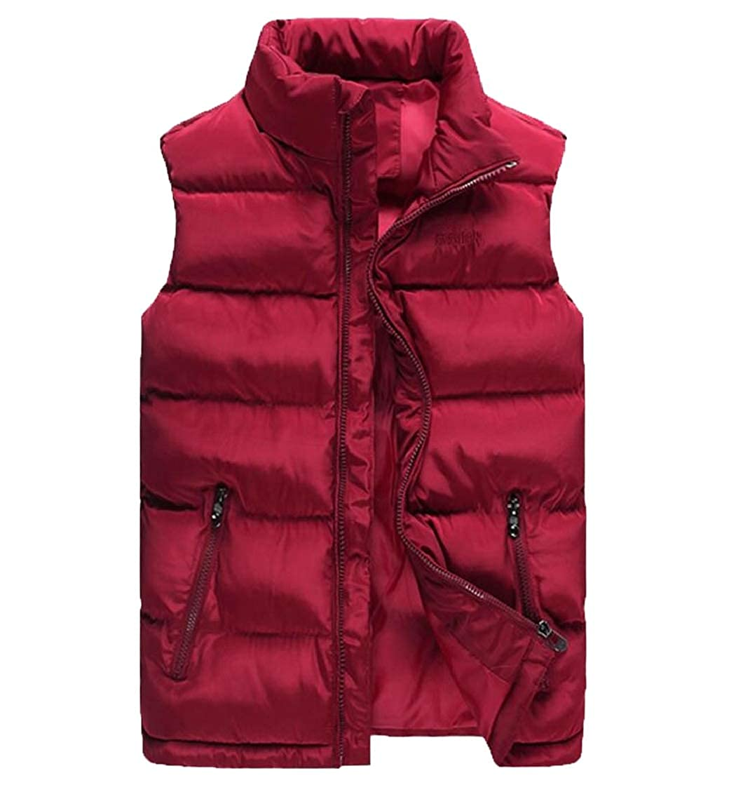 Hokny TD Mens Casual Waistcoat Water-Resistant Oversize Down Vest Jackets