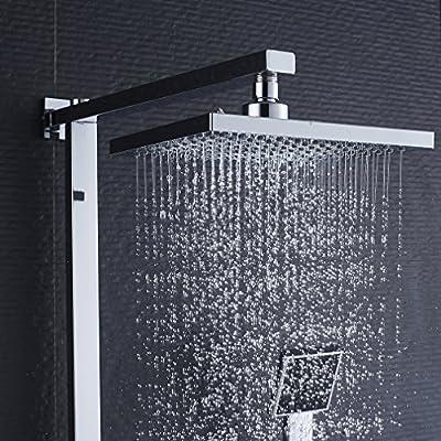 Auralum - Sistema Ducha Termostato Cuadrado Duchas Acero ...