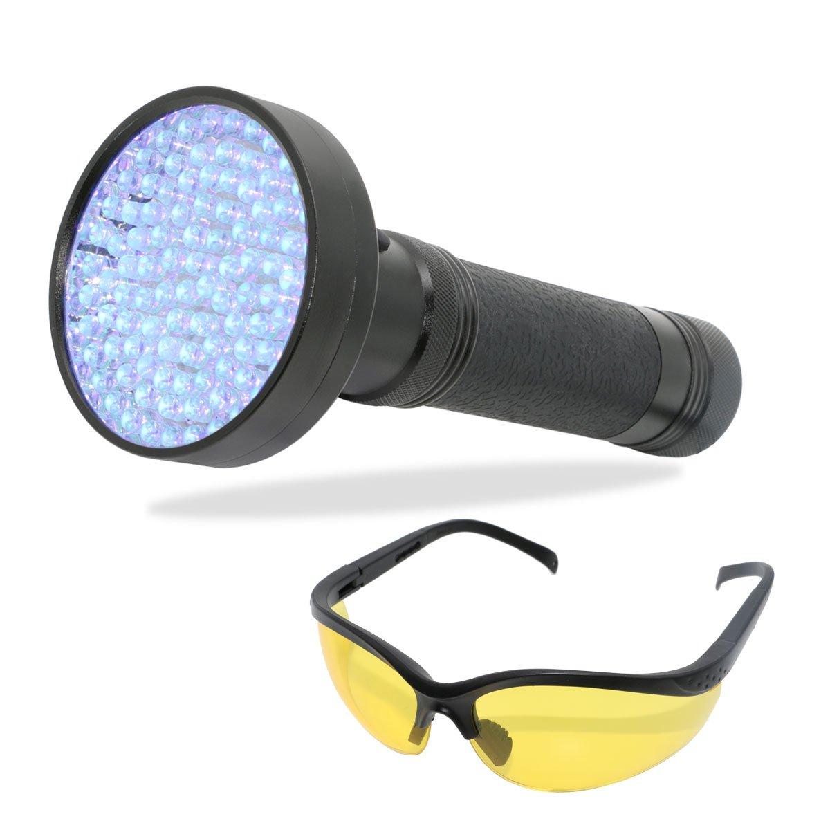 Xcellent Global 100 LED 395 nm UV Ultraviolet Flashlight Urine Detector Torch- Spot Scorpion, Pet Urine, Counterfeit Money, Fluorescer PT032