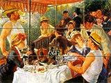 Luncheon of the Boating Party By Renoir, Pierre- Auguste - Art Ceramic Tile Mural 24''W x 18''H (6x6 tiles), Kitchen Shower Bath Backsplash