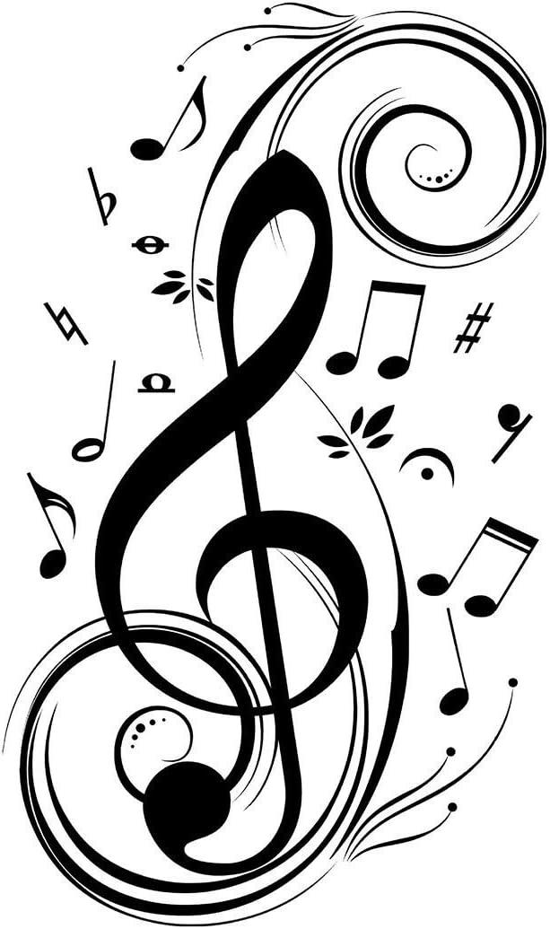 Music Background Graffiti Style Photo Hole in Wall Sticker Wall Art 30897280
