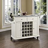 Cheap Solid Granite Top Wine Cart White