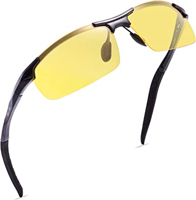 3 PAIR Polarized SPORT WRAP HD NIGHT DRIVING YELLOW SUNGLASSES HIGH DEFINITION G
