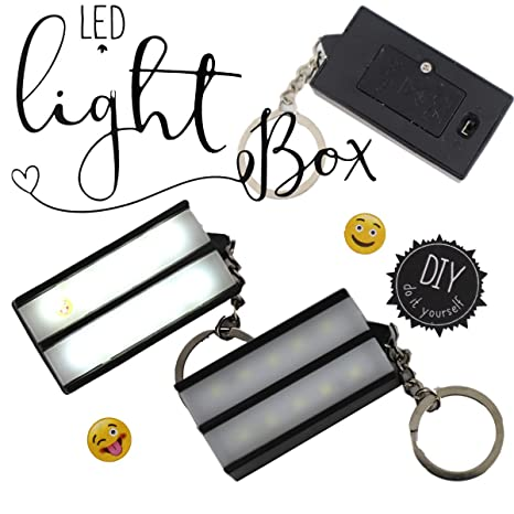 Llavero Lightbox LED caja luminosa placa luminosa escritura ...