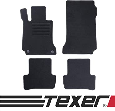 Carmat Texer Textil Fußmatten Passend Für Mercedes Benz C Klasse W204 Bj 2007 2014 Basic Auto