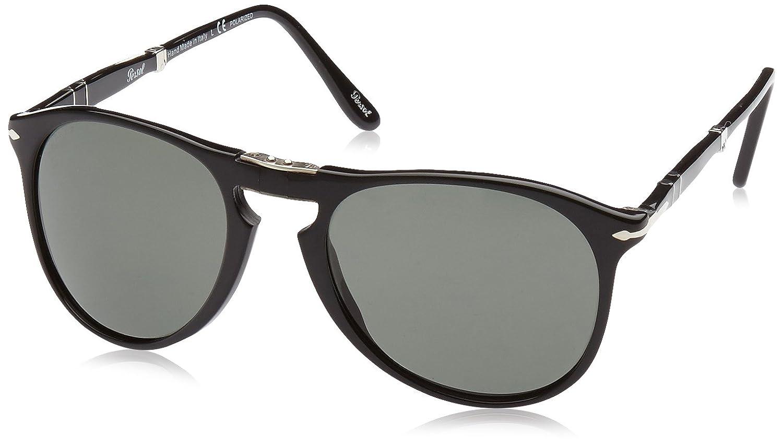 4e2834c1f6 Amazon.com  Persol Mens Sunglasses (PO9714) Black Green Acetate - Polarized  - 55mm  Persol  Shoes