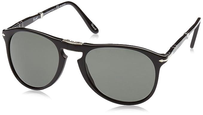 4709e82635f Persol Mens Sunglasses (PO9714) Black Green Acetate - Polarized - 55mm